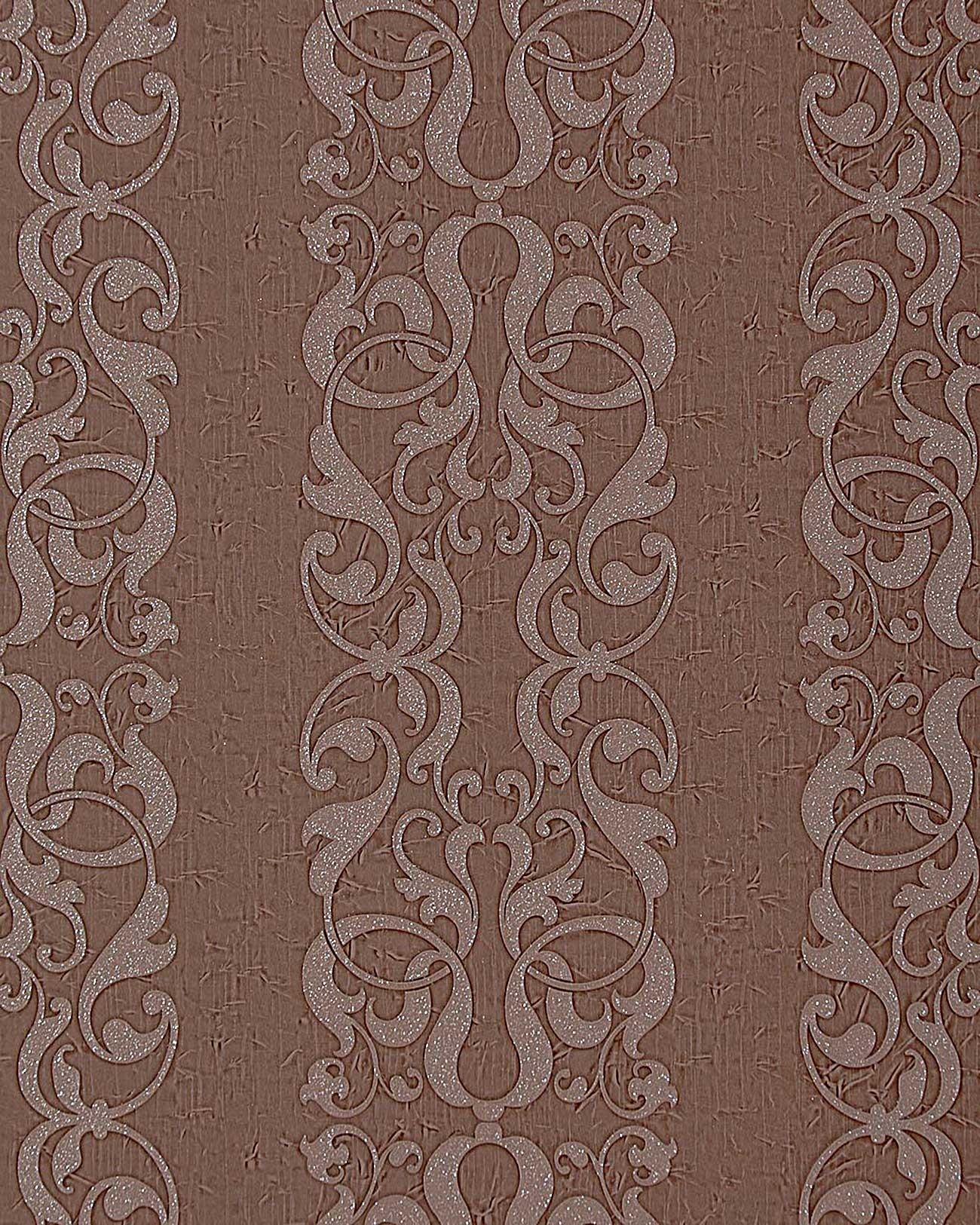Papel pintado de alta calidad barroco con adorno edem 829 for Papel pintado marron chocolate
