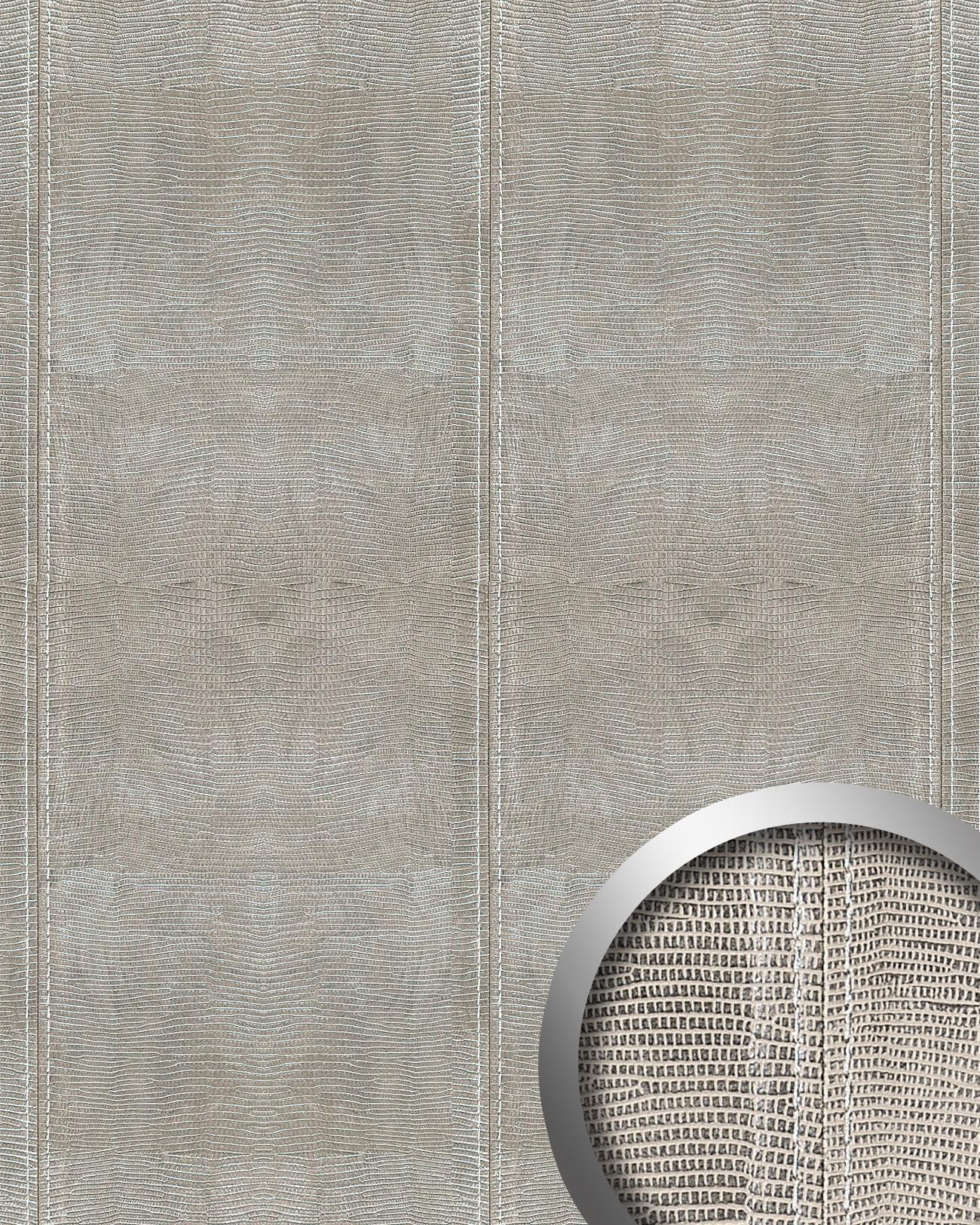 Wandpaneel leder blickfang wallface 15006 leguan design for Design tapeten shop