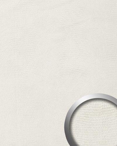 Wandpaneel Leder WallFace 15610 LEGUAN Blickfang Luxus 3D Dekor selbstklebende Tapete Wandverkleidung weiß | 2,60 qm – Bild 1