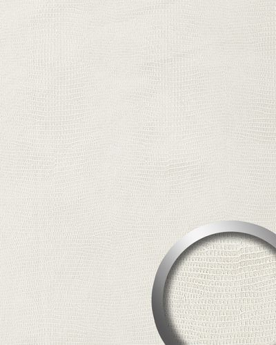 Panel decorativo autoadhesivo de lujo diseño piel de iguana WallFace 15610 LEGUAN Con relieve 3D blanco 2,60 m2  – Imagen 1