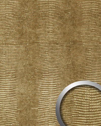 Panel decorativo autoadhesivo de lujo diseño piel de iguana WallFace 13478 LEGUAN con relieve 3D color dorado 2,60 m2  – Imagen 1