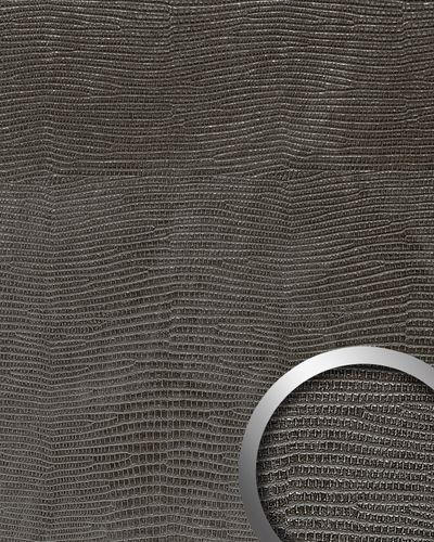 Wandpaneel Wandverkleidung Leder WallFace 14797 LEGUAN Design Blickfang Dekor selbstklebende Tapete schwarz | 2,60 qm – Bild 1