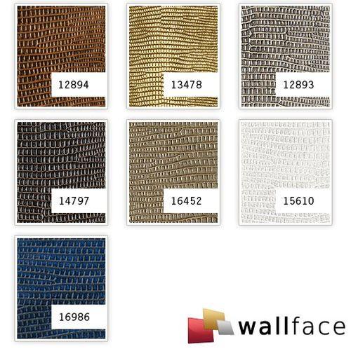 Wandpaneel Leder WallFace 12893 LEGUAN Design Blickfang Deko selbstklebende Tapete Wandverkleidung silber-grau | 2,60 qm – Bild 5