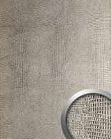 Wandpaneel 12893 LEGUAN Kunstleder Leguanoptik Silber Grau