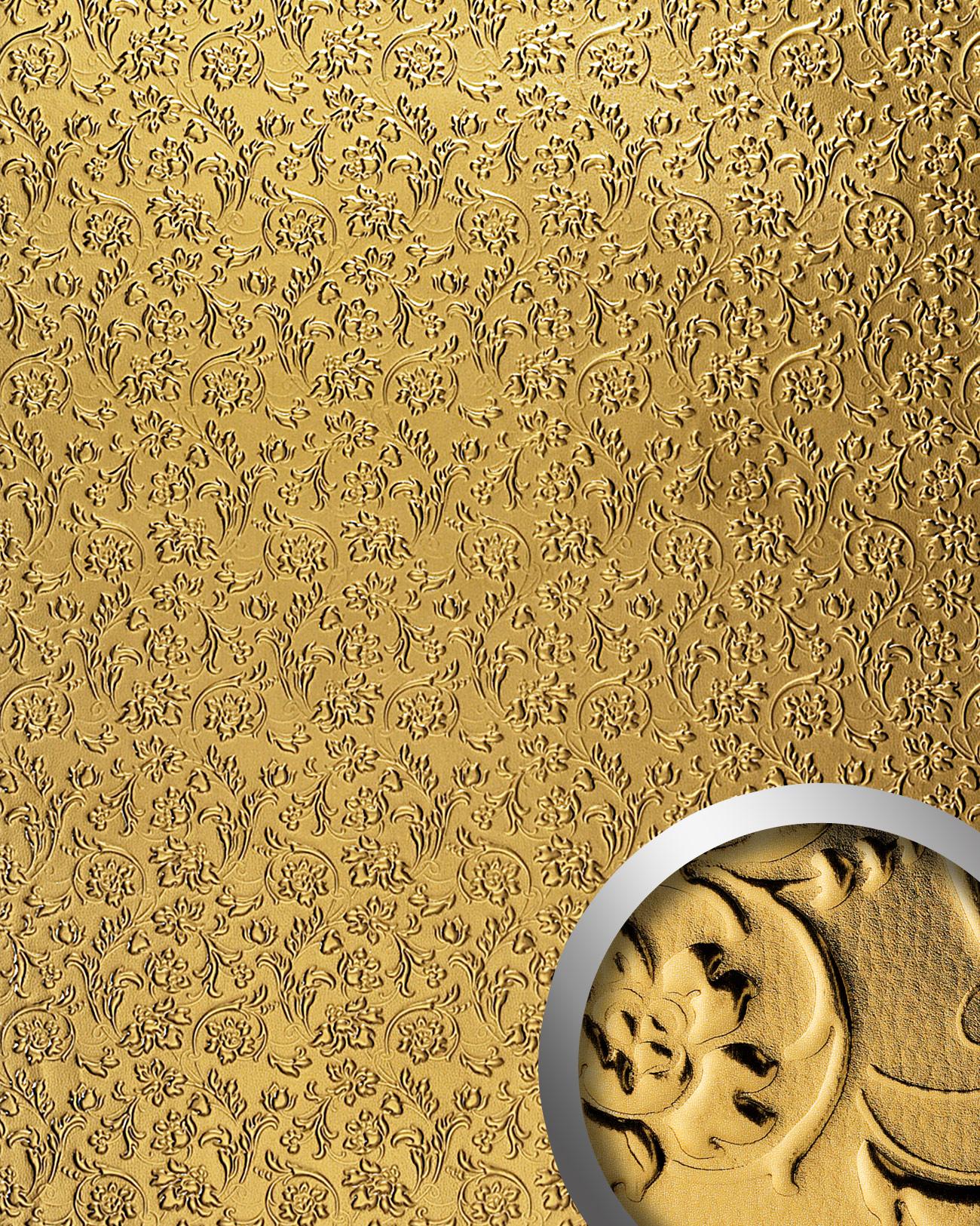 Wall panel leather baroque flower interior decorWallFace 14267 ...