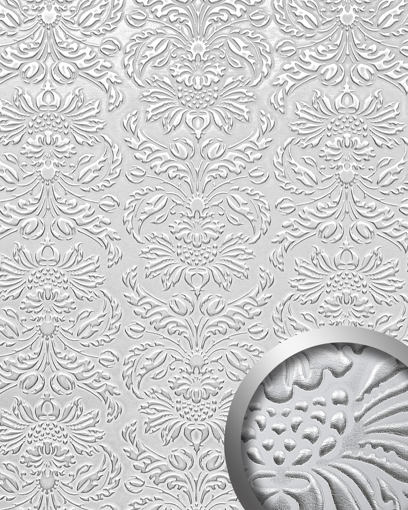 wandpaneel luxus 3d wallface 14794 imperial dekor barock damask ornament leder selbstklebend. Black Bedroom Furniture Sets. Home Design Ideas
