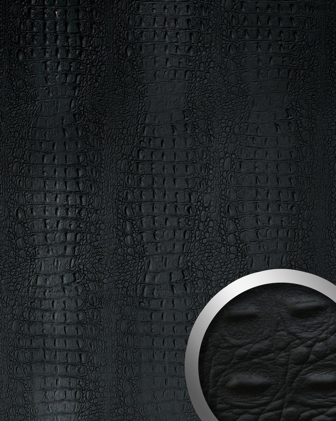 Design rev tement mural auto adh sif wallface 13408 croco aimantin simili cui - Revetement mural simili cuir ...