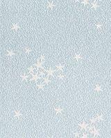 Carta da parati per bambini in blu soffitto o parete in celeste a stelline brillanti EDEM 533-32