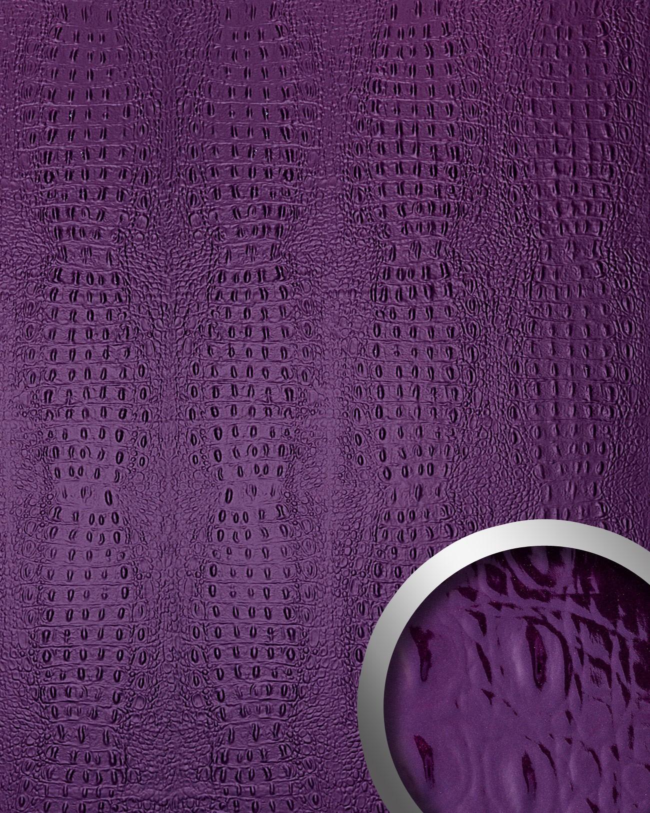 Wandpaneel croko optiek paars zelfklevend 2,60 m2 wallface 14319 ...