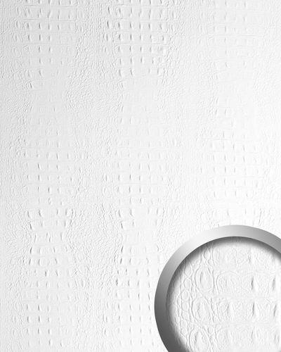 Wandpaneel Luxus 3D Leder WallFace 13407 CROCO Blickfang Dekor Shop Wandverkleidung selbstklebende Tapete weiß | 2,60 qm – Bild 1