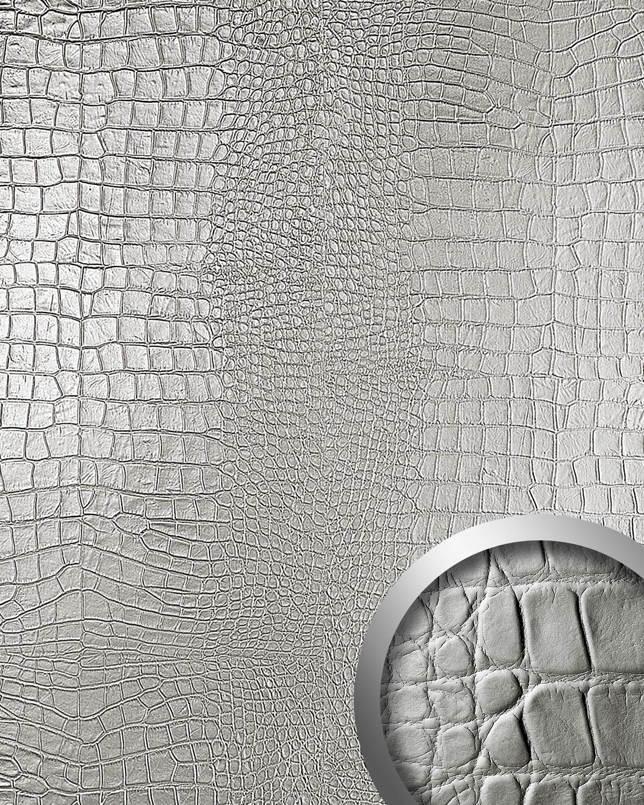 Pannello per interni effetto pelle cocodrillo grigio wallface ...