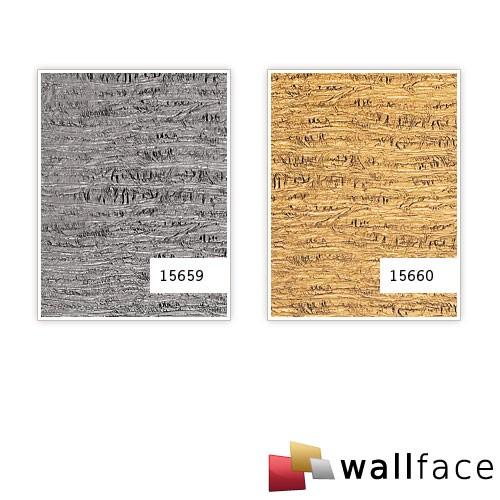 Wandpaneel Luxus Struktur Leder WallFace 15660 PERSIAN TREASURE Wand-verkleidung selbstklebende Tapete gold | 2,60 qm – Bild 3