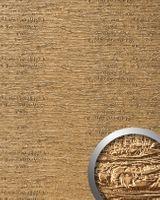 Wandpaneel 15660 PERSIAN TREASURE Trash Leder 3D Optik Gold