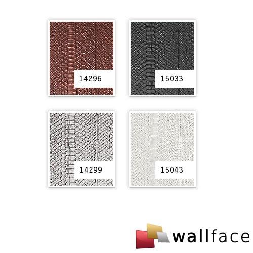 Design Wandpaneel Schlangen Optik WallFace 15033 SNAKE Blickfang Eyecatch Dekor selbstklebende Tapete schwarz | 2,60 qm – Bild 2