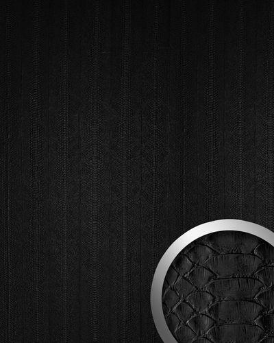 Panel decorativo autoadhesivo WallFace 15033 SNAKE de diseño piel de serpiente con relieve color negro mate 2,60 m2  – Imagen 1