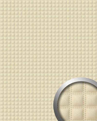 Wandpaneel Quadrat Leder Luxus WallFace 14277 QUADRO Blickfang Dekor selbstklebende Tapete Verkleidung creme | 2,60 qm – Bild 1