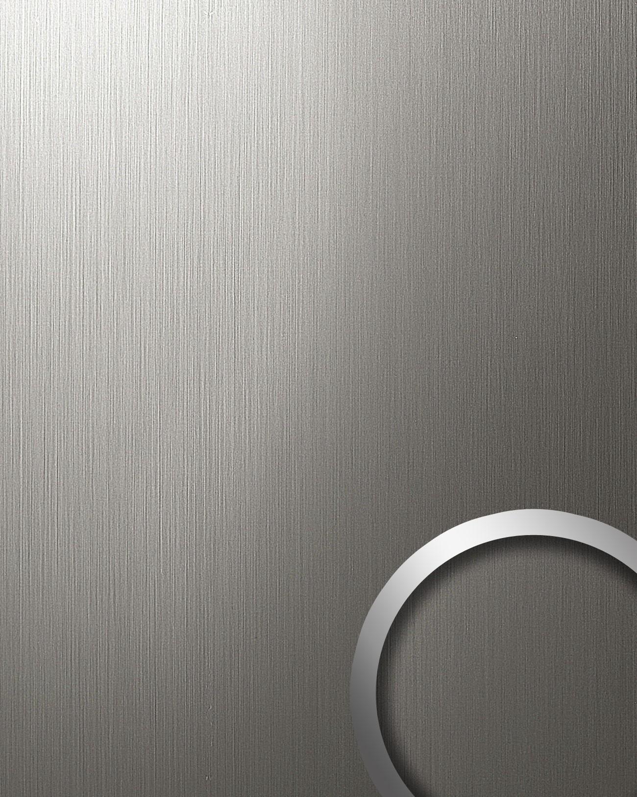 Wandbekleding roestvrij staal look grijs mat zelfklevend 2 60 m2 wallface 15297 deco origineel - Wandbekleding keuken roestvrij staal ...