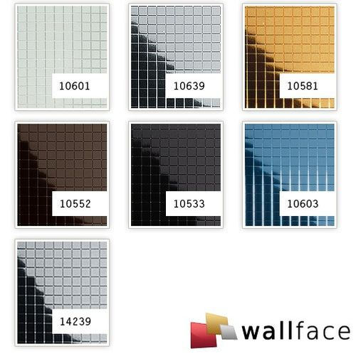 Wall panel  eyecatcher interior decor panel WallFace 10603 M-STYLE design paneling metal mosaic mirror ice-blue 0,96 sqm – Bild 2
