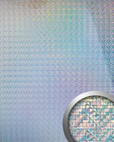 Panel decorativo autoadhesivo flexible mosaico cuadrado WallFace 10575 M-Style S brillante plata galaxy 0,96 m2 – Imagen 1