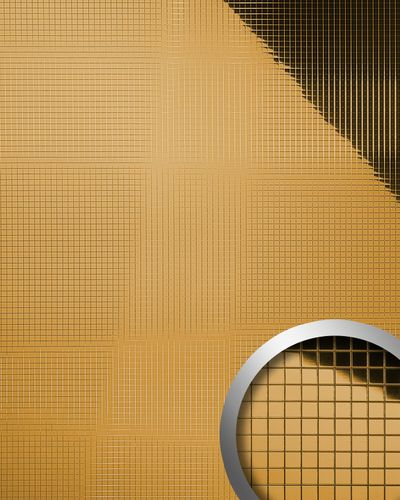 Wall paneling interior panel room  decor panel WallFace 10598 M-STYLE design  self-adhesive metal mosaic gold 0,96 sqm – Bild 1