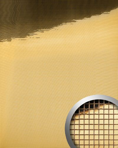 Wall paneling design  wall shop metallized WallFace 10592 M-STYLE smooth mirror surface gold 0,96 sqm – Bild 1