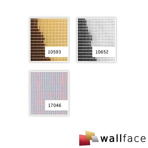 Wall paneling interior panel eyecatch wall decor self-adhesive decor panel WallFace 10652 M-STYLE shiny silver 0,96 sqm – Bild 2