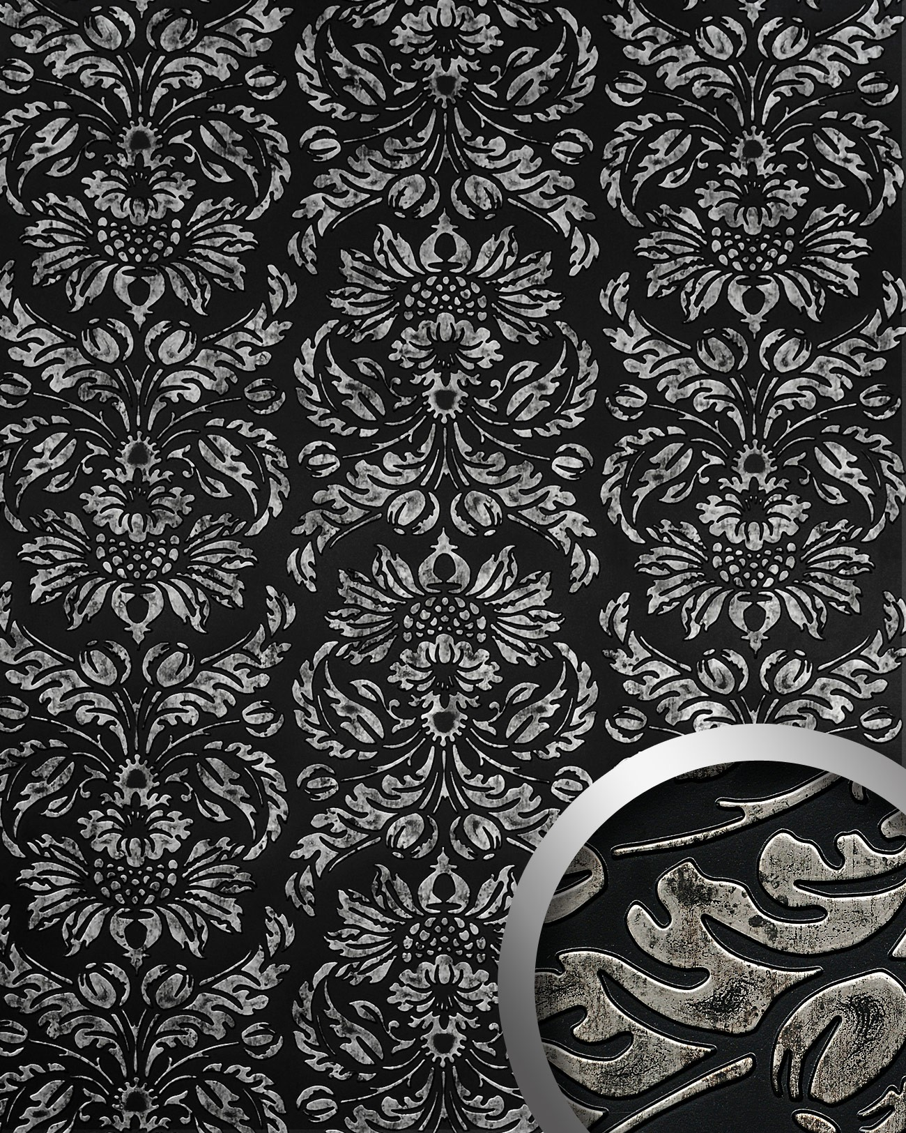 Wall covering vintage baroque damask 3D interior WallFace