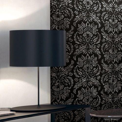 Wandpaneel Vintage Barock WallFace 14800 IMPERIAL Damask selbstklebende Tapete Deko Wandbelag schwarz grau | 2,60 qm – Bild 3