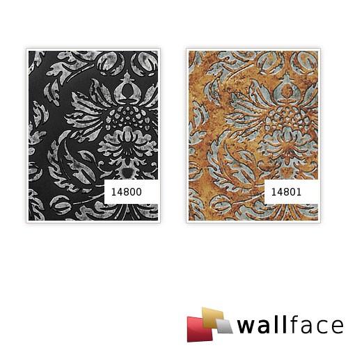 Pannello per interni stile barocco vintage WallFace 14800 IMPERIAL Rivestimento murale autoadesivo nero grigio 2,60 mq – Bild 4