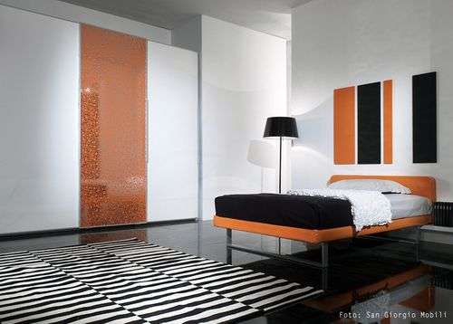 Panel decorativo autoadhesivo de diseño burbujas con relieve 3D WallFace 11713 BUBBLE color naranja plata 2,60 m2  – Imagen 3