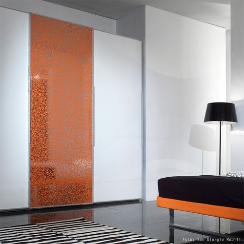BUBBLE Design covering decor panel eyecatch interior panel WallFace 11713 self-adhesive orange silver 2,60 sqm – Bild 2