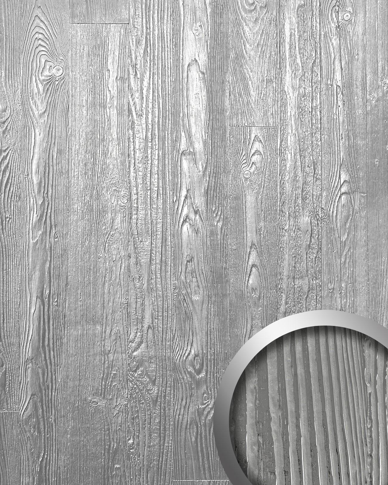 Pannello per interni effetto legno grigio metallico WallFace 14808 ...