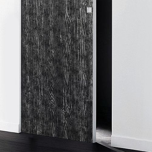 Panel decorativo autoadhesivo de diseño madera con relieve 3D WallFace 14806 WOOD Color negro plata vintage 2,60 m2  – Imagen 2