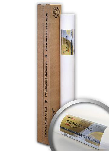 Profhome PremiumVlies Profi-Malervlies Renoviervlies Glattvlies überstreichbare Vliestapete weiß 150 g | 25 qm Rolle – Bild 1