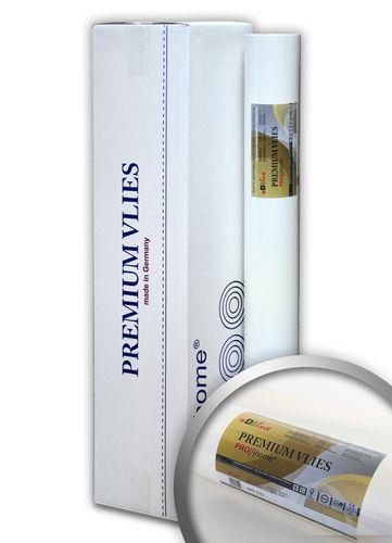 PROFHOME PremiumVlies 150 g Profi-Malervlies Renoviervlies Glattvlies überstreichbare Vliestapete weiß | 1 Karton 100 qm – Bild 1