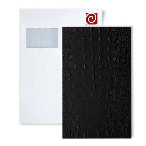 1 ÉCHANTILLON S-13408-SA WallFace CROCO BLACK Leather Collection | ÉCHANTILLON panneau mural au format A4 – Bild 1
