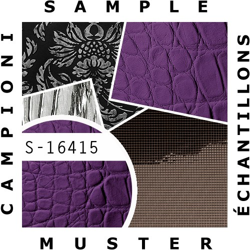 1 MUSTERSTÜCK S-16415 WallFace CROCONOVA VIOLETTA Leather Collection | Wandpaneel MUSTER in ca. DIN A4 Größe – Bild 2