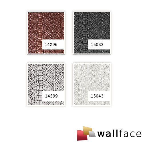 1 CAMPIONE S-14299-SA WallFace SNAKE PLATIN Leather Collection | CAMPIONE di rivestimento murale in circa DIN A4 – Bild 4
