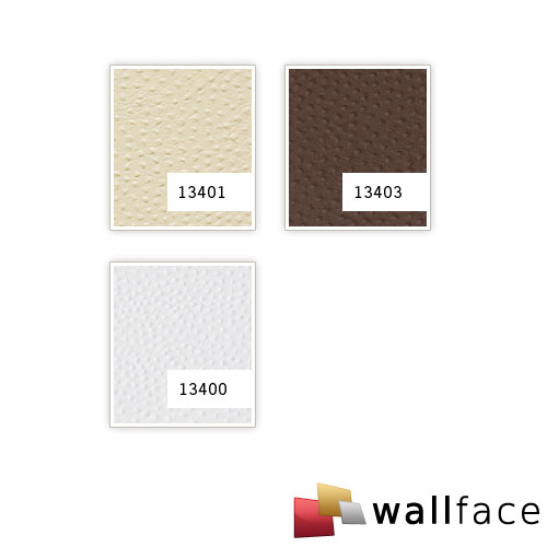 1 MUSTERSTÜCK S-13401 WallFace STRUZZO CREME Leather Collection | Wandpaneel MUSTER in ca. DIN A4 Größe – Bild 4