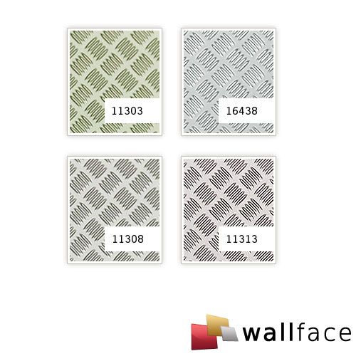 1 PROEFMONSTER S-11303-SA WallFace STEP 5 HGS Structure Collection | Muur paneel STAAL in ongeveer A4-formaat – Bild 3