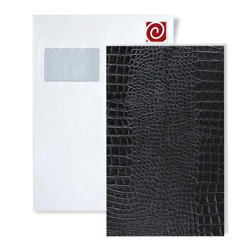 1 PROEFMONSTER S-13826-SA WallFace CROCONOVA MAGIC BLACK Structure Collection | Wandbekleding STAAL in ongeveer A4-formaat – Bild 1
