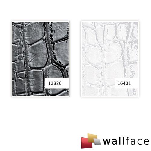 1 PROEFMONSTER S-13826-SA WallFace CROCONOVA MAGIC BLACK Structure Collection | Wandbekleding STAAL in ongeveer A4-formaat – Bild 2