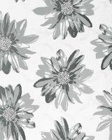 Vinyl wallpaper wall covering EDEM 058-26 Retro sweet summer floral flowers cream-white light grey 001