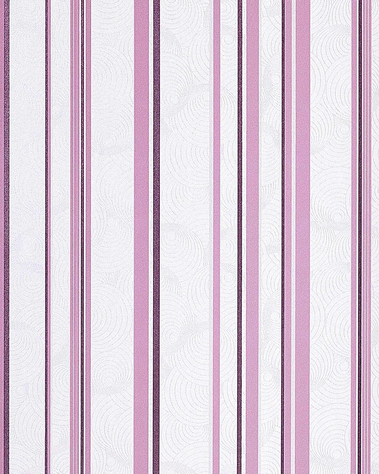 Carta da parati retro a righe con disegno a strisce EDEM 059-24 in ...