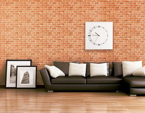 Wallpaper wall covering rustic brick EDEM 583-23 decorative vintage mural stone look vinyl orange-brown – Bild 2