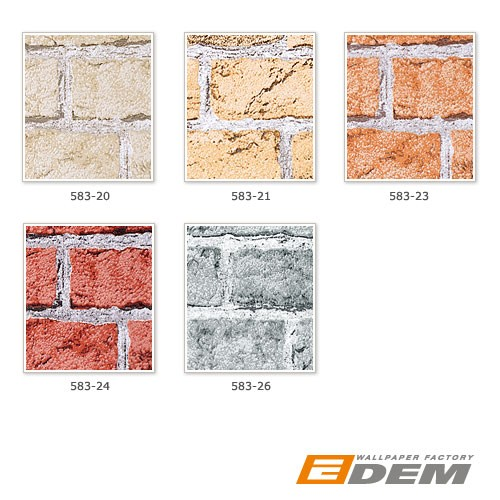 Wallpaper wall covering rustic brick EDEM 583-23 decorative vintage mural stone look vinyl orange-brown – Bild 4