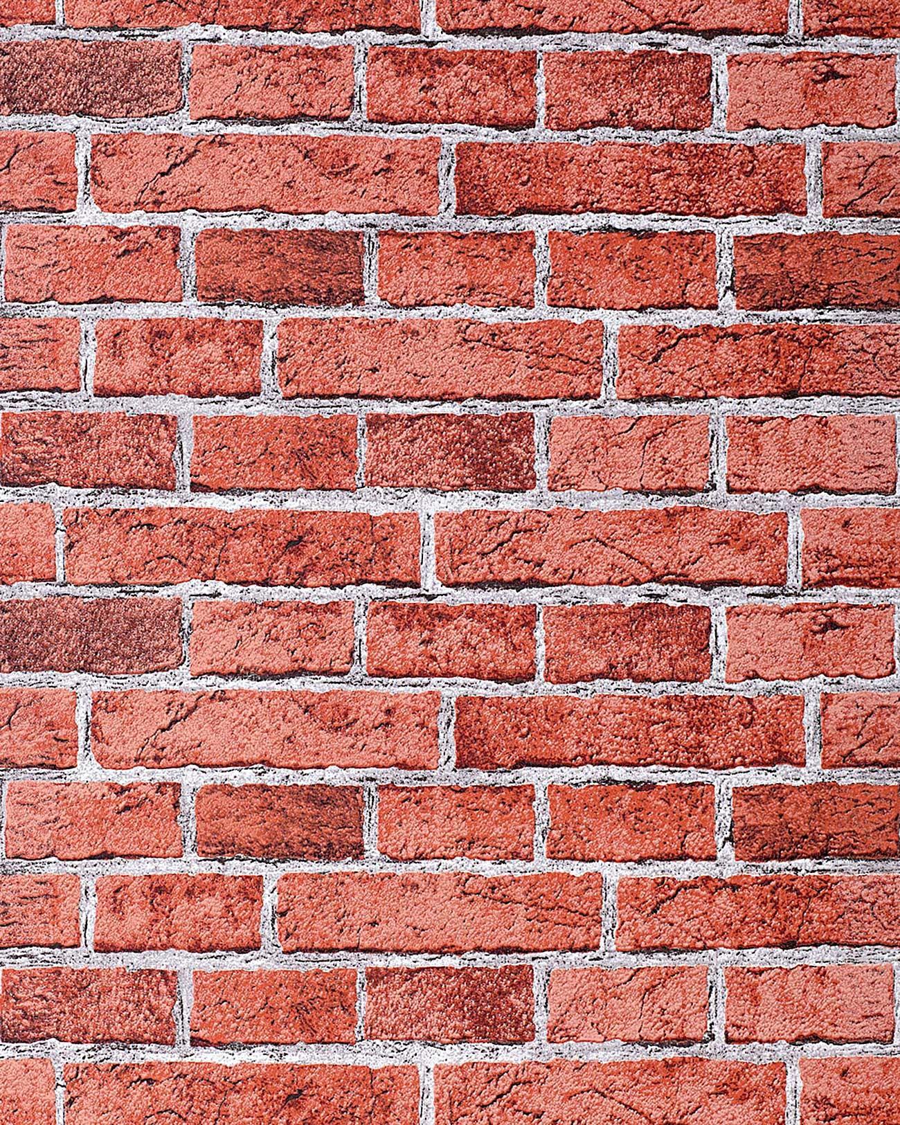 papier peint design vintage rustique edem 583 24 aspect mur de briques bricks brix rouge. Black Bedroom Furniture Sets. Home Design Ideas