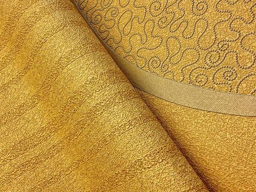Texture striped vinyl extra washable wallpaper wall covering fashion style plain EDEM 1015-11 gold yellow – Bild 4