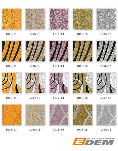 Fashion zebra style wallcovering wall wallpaper EDEM 1016-11 texture striped vinyl extra washable gold-yellow black – Bild 4