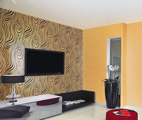 Grafik Tapete EDEM 1016-11 Zebra-Streifen Tapete Struktur-Muster hochwaschbare Oberfläche goldgelb schwarz – Bild 2
